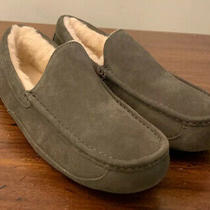 Ugg Ascot 1101110 Charcoal Mens Slippers Authentic Size 12 Water-Resistant New Photo