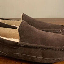 Ugg Ascot 1101110 Mens Slippers Espresso Suede New Size 11 New Warmth Style Photo