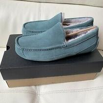 Ugg Ascot Mens Moccassin Slippers Salty Blue Size 10 New Photo