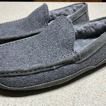 Ugg Ascot Wool Metal Gray 3233 Sheepskin Slippers Moccasins Mens Size 7 Photo