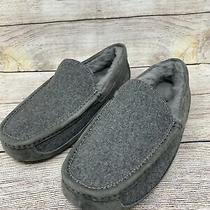 Ugg Ascot Wool Metal Gray 3233 Sheepskin Slippers Moccasins Mens Size 7 Photo