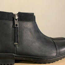 Ugg Attell Women's Black Leather Ankle Boot Booties 1103832 Size 8 Waterproof Photo