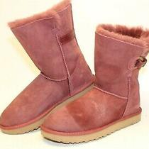 Ugg Australia 1012446 Nash Womens 11 42 Burgundy Suede Winter Comfort Boots  Photo