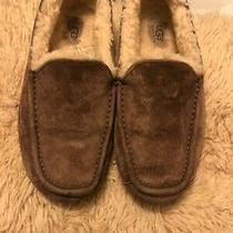 Ugg Australia 1016593 Ascot Slipper Men 7 Eu 39.5 Brown Suede Moc Toe Faux Fur Photo