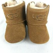 Ugg Australia 10181411 Chestnut Brown Suede Booties Infant Baby Size 0/1 Photo
