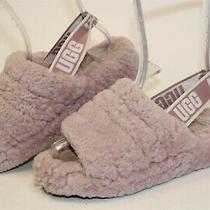 Ugg Australia 1095119 Fluff Yeah Womens 7 38 Pink Sheepskin Slippers Shoes Photo