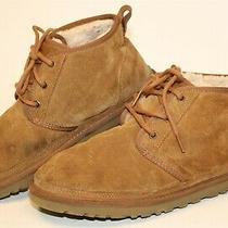 Ugg Australia 3236 Neumel Mens 10 43 Brown Suede Sheepskin Chukka Ankle Boots Photo