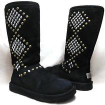 Ugg Australia 3300 Sz 7 Us Women's Avondale Studded Suede Sheepskin Winter Boots Photo