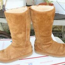 Ugg Australia 5119 Knightsbridge Women's  Chestnut Tall Sheepskin Boots Size 9 Photo