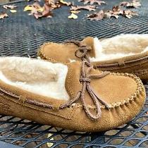 Ugg Australia 5296 Kids Chestnut Slip-on Dakota Slippers Moccasins Size 1 Photo