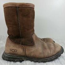 Ugg Australia 5381 Brooks Brown Leather Shearling Boots Women's Size 8 Photo