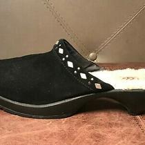 Ugg Australia 5546 Suede Black Platform Studs Clogs Mules Shoes Women's Size 8 Photo