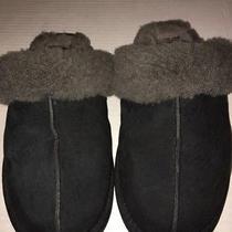 Ugg Australia 5661 Scuffette Ii Black Suede Sheepskin Slipper Shoes Women's Sz 8 Photo