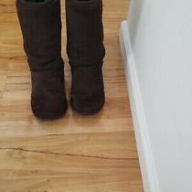 Ugg Australia 5815 Size 9 Brown Suede Sheepskin Women Winter Boots Photo