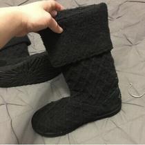 Ugg Australia 5819 Women's Classic Knit Black Crochet Boots Womens Sz 7 M Photo