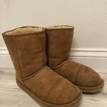 Ugg Australia 5825 Classic Short Chestnut Sheepskin Boots Size Women's 8 Photo