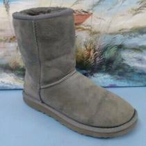 Ugg Australia 5825 Classic Short Women's Gray Suede Sheepskin Boots Size  6 Photo