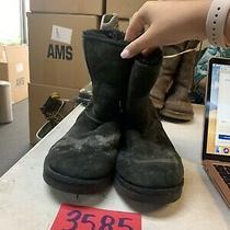 Ugg Australia 5825 Classic Short Womens Size 8 Black Suede Sheepskin Boots  Photo