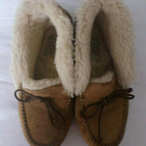 Ugg Australia Alena Womens 7 Us/38 Eu Moccasin Slipper Bootie Chestnut 1004806 Photo