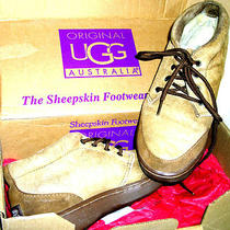 Ugg Australia Ankle Boots Lace Up Suede. Size 9 1/2 Women Shearling in Box Photo
