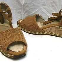 Ugg Australia Ankle Tie Wedge Espadrille Sandals  Shoes Sz 7 Euc Photo