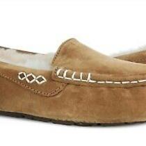 Ugg Australia Ansley Chestnut Brown Suede Fur Slippers Womens Size 8 Nib Photo