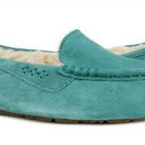 Ugg Australia Ansley Coastal Green Suede Fur Slippers Womens Size 10 Nib Photo