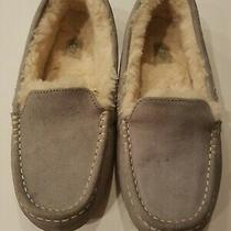 Ugg Australia Ansley Moccasin Slippers 3312 Light Grey Suede Women's Size 10 Photo