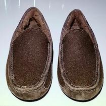 Ugg Australia Ascot Brown Wool Blend Suede Slippers S/n 3233 Photo