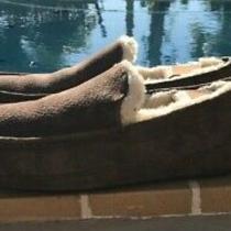 Ugg Australia Ascot S/n 5775 Brown Suede Sheepskin Slippers Loafers Sz 10m Photo