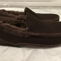 Ugg Australia Ascot Slippers Brown Wool Blend Suede Slippers 3233 Size 8 New Photo