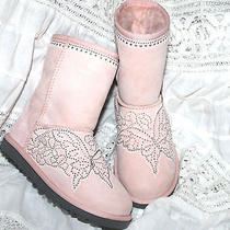 Ugg Australia Authentic Customized Hand Painted Lace Butterfly Boots 2 Photo