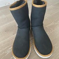 Ugg Australia Aztec Pattern Black Suede Boots Booties Size 8 Photo
