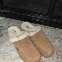Ugg Australia Baby Brown Suede Mules Size 8 Photo