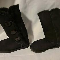 Ugg Australia Bailey Bow Tall Ii 1016434 Boot for Women Size 8 - Black Photo