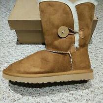 Ugg Australia Bailey Button Chestnut Sheepskin Boots Size 7 in Box Photo