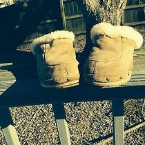 Ugg  Australia Beige Suede and Wood Clogs/mules Size 7 Photo