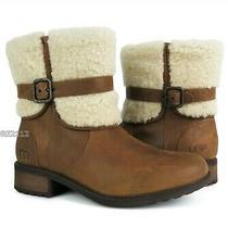 Ugg Australia Blayre Ii Leather Chestnut Boots Womens Size 10 Nib Photo