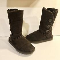 Ugg Australia Boots Bailey Button Triplet Chesnut Brown Womens Size 8 Photo