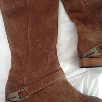 Ugg Australia Brown Tall Riding Boots Leather Shoes Size 9 Photo
