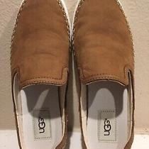 Ugg Australia Caleel Brown Leather Slip on Sneakers Mules Sz 7 New in Box Photo