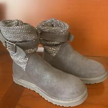 Ugg Australia Cambridge Metallic Buckle Knit 1006735 Womens Boots Sz 8 Nwot Photo