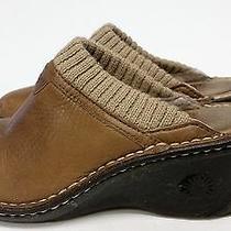 Ugg Australia Chestnut Brown Leather Slip On/slip Resistant Mules /clogs. Sz. 7 Photo
