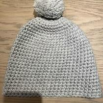 Ugg Australia Chunky Knit Pom Beanie Hat Light Gray Color One Size Fits All Photo