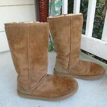 Ugg Australia Classic 5815 Tall Boot Chestnut Brown Tan Sheepskin Size 9 Photo