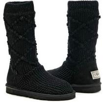 Ugg Australia Classic Black Argyle Knit Boot 5879 Size 6 Photo