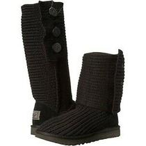 Ugg Australia Classic Cardy Knit Tall Sweater Boots Color Black Size 6 S/n 5819 Photo