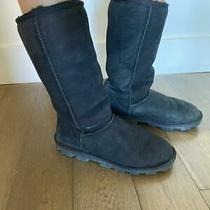 Ugg Australia Classic Ii Tall Shearling Suede Boots for Womens Size 8  Black... Photo