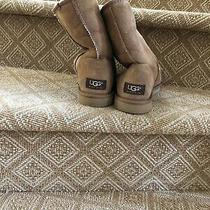 Ugg Australia Classic Short 5825 Suede Sheepskin Boot Size W6 Photo