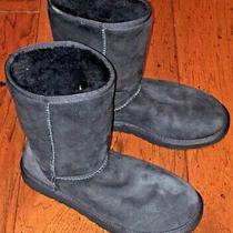 Ugg Australia Classic Short Black Suede Women Boots Size 8 Photo